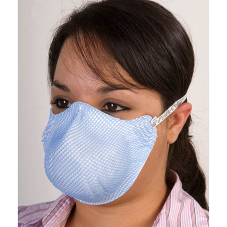 3200 Series N95 Respirator and Surgical Mask, Medium/Large, Blue - Model 3212N95-M/L, Bag of 20