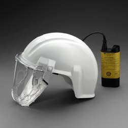 Airstream Respirator Headgear-Mounted Powered Air Purifying Respirator, Model AS-400LBC, 1 Pack