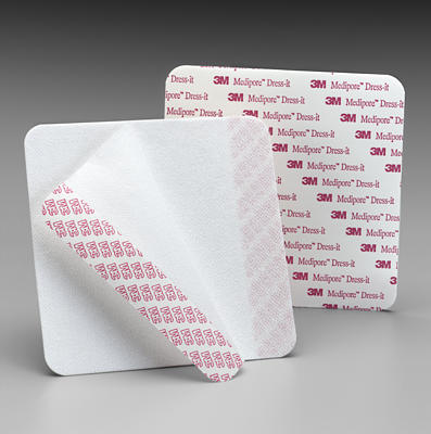 3M Medipore Soft Cloth Dressing Cover - Tape, Medipore 5-7/8X5-7/8, Box of 25 - Model 2956