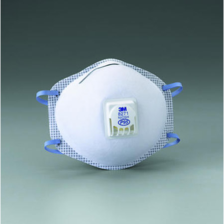3M P95 Particulate Respirator - Model 8271, Bag of 10