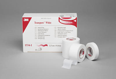 3M Transpore Surgical Tape - White, 3
