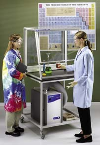Labconco Accessories for Protector Demonstration Hoods - Cart, White Epoxy-Coated Tubular Steel