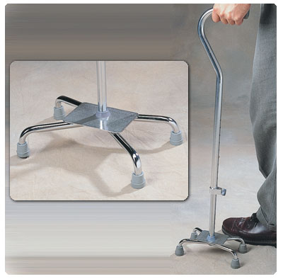 Adjustable Quad Cane Wide Base - Model A70021