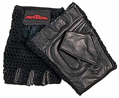All-Purpose Padded Mesh Wheelchair Gloves X-Large Color: Black - Model 660803