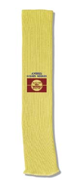 Ansell GoldKnit Medium-Weight Kevlar Sleeve, Model 222145, Case of 50