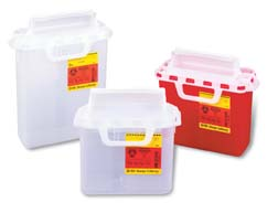 BD Patient/Examination Room Sharps Collectors - Sharps Collectors with Horizontal Entry