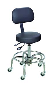 BioFit Cushioned Stools with Chrome-Plated Finish - Desk Height, Model RTT1924RC684, Each