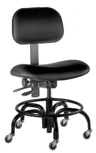 BioFit Economy Lab Chairs with Casters With Chrome Footring, Model BTT2328RG468, Each