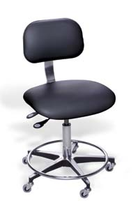 BioFit Ergonomic Chairs with Chrome-Plated Finish - Desk Height, Model ETC194RCG684, Each