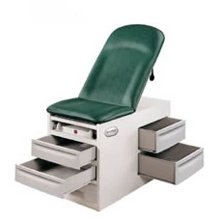 Basic Exam Table with Pelvic Tilt - Side Drawers Left, Pelvic Tilt & Drawer Warmer - Model 4001-XX-L