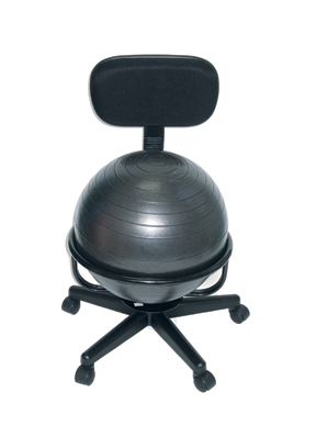 Cando Ball Chair - Metal - Mobile - With Back - No Arms