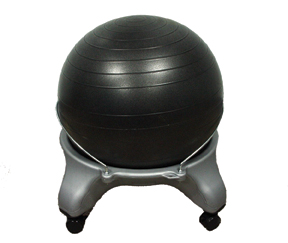 Cando Ball Chair - Plastic - Mobile - No Back