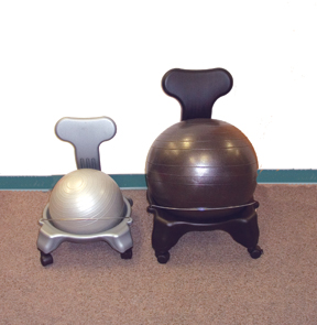 Cando Ball Chair - Plastic - Mobile - With Back - Adult Size