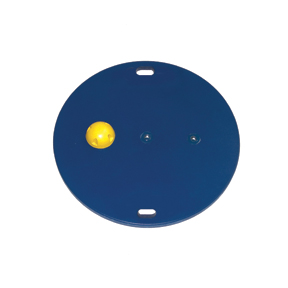 Cando Mvp Wobble Board - 30 Inch Board - 1 Yellow Hemisphere - X-Easy