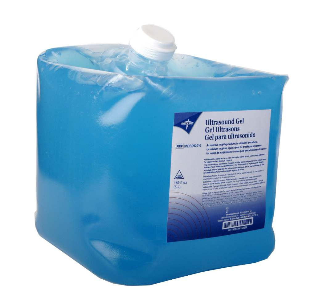 Medline Ultrasound Gel - 5 Liter Jug, Box of 4 - Model MDS092010