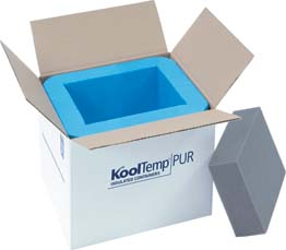 Cold Chain KoolTemp Molded Polyurethane Containers, Model U327-2-V, 1 Pack