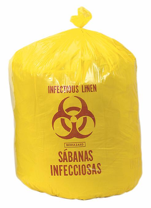 Medline Biohazard Liner - Yellow, 40