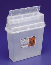 Covidien Tortuous Path Sharps Container, Model 31143897, Case of 30