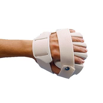 D. Rolyan Hand-Based Anti-Spasticity Ball Splint Left; Color: White Size: Small - Model A4193