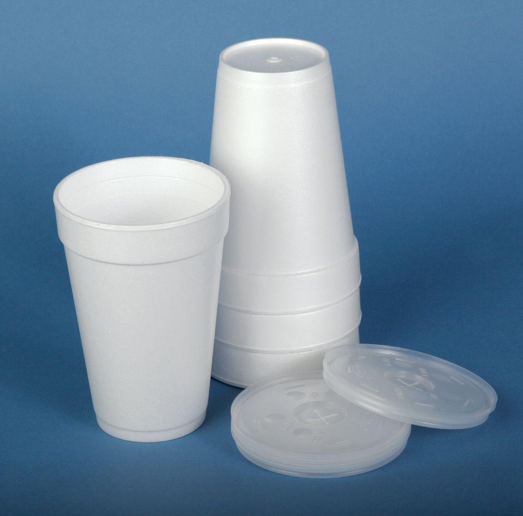 Dart Styrofoam Cup Vented Lid Lid For 12 Oz Styrofoam