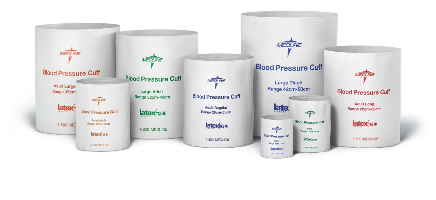 Disposable Blood Pressure Cuffs - Adult Long Cuff - Adult Long (28-38 cm), Double Tube, MQFL