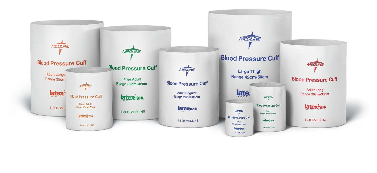 Disposable Blood Pressure Cuffs - Adult Long Cuff - Adult Long (28-38 cm), Single Tube, MQML