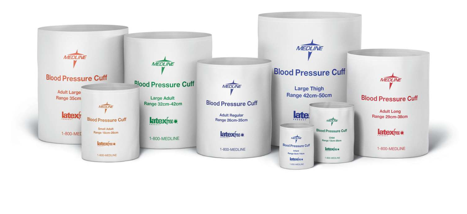 Disposable Blood Pressure Cuffs - Thigh - Thigh (42-50 cm), 5/bx, Double Tube - MQ (Female Lock)