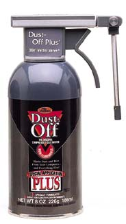 Disposable Dusters, Dust-Off Plus XL, 284 g (10 oz.) Can - Falcon Dust-Off Pressurized Dusters