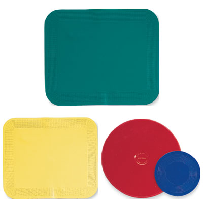 Dycem Pads Activity Pads Rect., Textured Color: Forest Green Size: 10