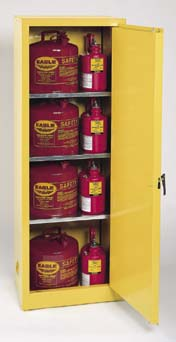 Eagle Manufacturing Space-Saver Flammable Liquids Storage Cabinets, Vertical, Model 1923, 24 GL