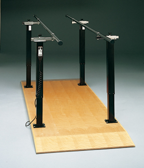 Electric Height/Manual Width Adj Parellel Bars W/Platform 10'