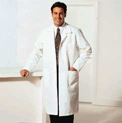 Encompass Reusable Lab Coats - Staff Length, 89 cm (35
