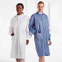Encompass SafeCare Fluid-Resistant, Antistatic, Reusable Lab Coats, Medium, Model 46942-105, Each