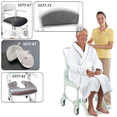 Etac Clean Shower/Commode Chair Rear Wheel Adapter Kit to adapt chair to 24