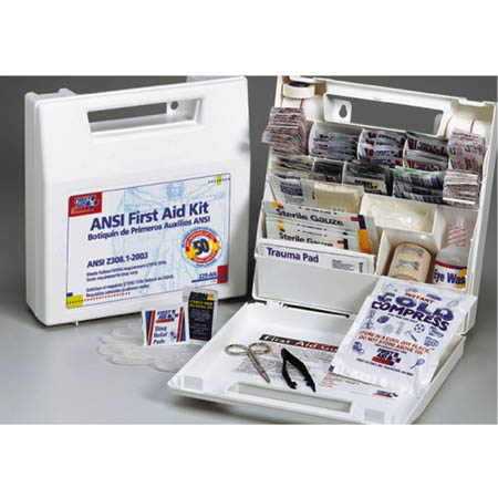 First Aid Only Inc  Bulk First aid Kit ANSI-50 Person - Plastic - Model  225-AN, Each