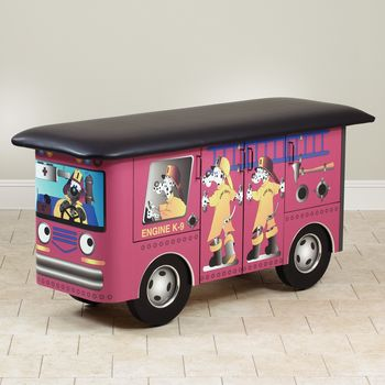 Fun Series Pediatric Treatment Tables Engine K-9 with Dalmatian Firefighters Treatment Table
