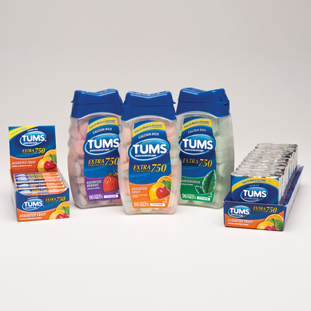 Glaxo Tums Extra Strength - Assorted, Pkg of 96