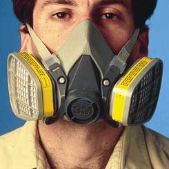 3M 6000 Series Half Facepiece Respirator with P100 Filters, Medium, Model 6291, Each