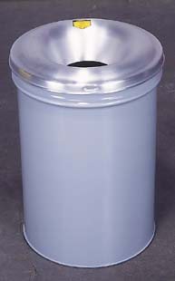 Head Only, Aluminum, for 45.4/56.8 L (12/15 gal.) Drums - Justrite Smoker's Ceasefire Receptacles