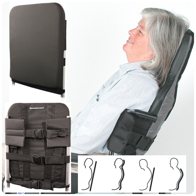 Incrediback Moldable Reclining Back System. Tall Size System. Wheelchair Size 18