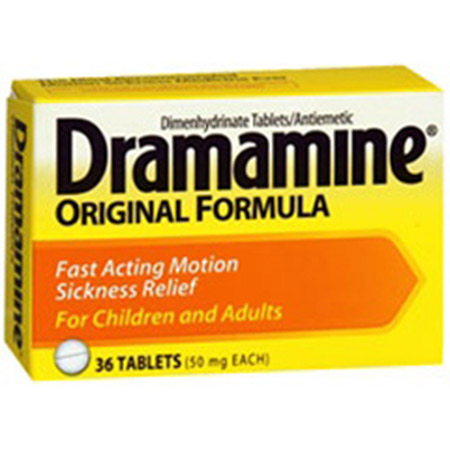 J&J Dramamine Tablets, 50mg, Box of 12