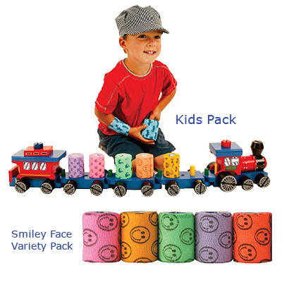 Kid's Pack & Smiley Face Variety Pack Coflex Kids Pack, 3