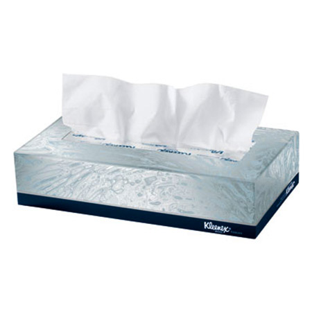 Kimberly-Clark Kleenex Facial Tissue - Model 21400, Box of 100