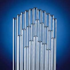 Kimble Chase KIMAX Glass Tubing, Standard Wall - Glazed Ends, Model 80200 9, Case of 25