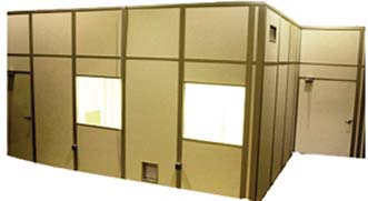 LM Air Technology Lo-Pro MDR Series Modular Downflow Cleanrooms, Model MDR-1216, Each