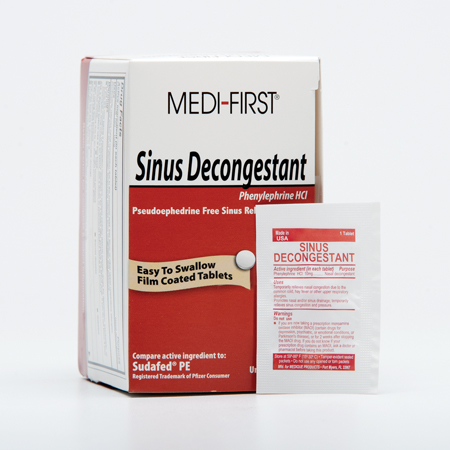 Medique Medi-First Sinus Relief, Pkg of 100