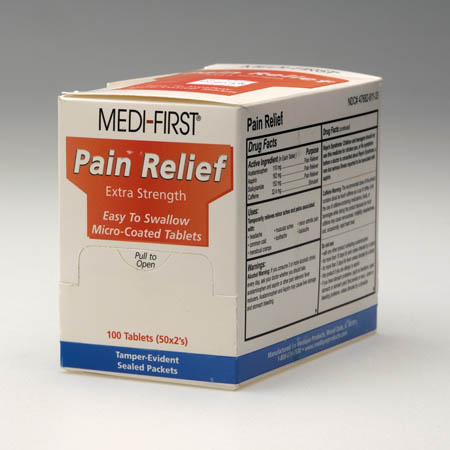Medique Medi-First Pain Relief, 250 Pkg of 2
