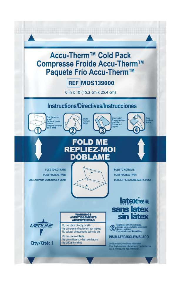 Medline Accu-Therm Instant Cold Pack - Heavy-Weight, 6
