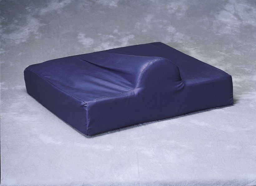 Foam Wheelchair Cushion with Pommel - w/ C, w/ Pommel, Nylx Cvr, 18X18X4In, Each - Model MSC0191818P