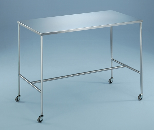 Blickman H-Brace Instrument Table - 48X24X34, w/ Shelf, 7835Ss, Each - Model 127845000